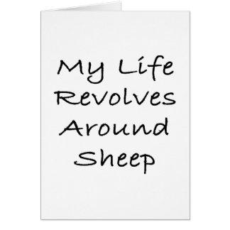 My Life Revolves Around Sheep Note Card