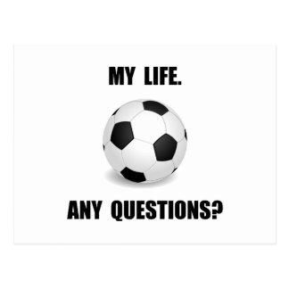 My Life Soccer Postcard