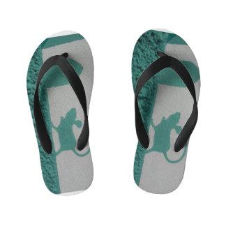 My lil Mouse shoes for kids Street Art Flip Flops
