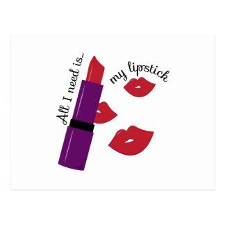 My Lipstick Postcard