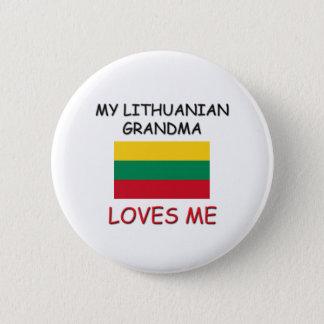 My Lithuanian Grandma Loves Me 6 Cm Round Badge