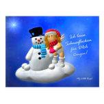 My Little Angel: Engel mit Schneemann Postkarten