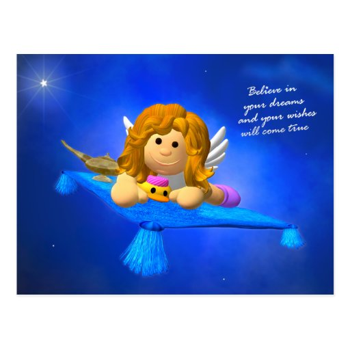 My Little Angel: Imagination Postcard