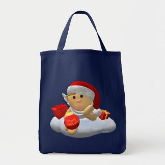 My Little Angel: Merry Christmas Grocery Tote Bag