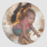 My little Angel Round Stickers
