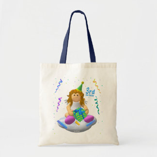 My Little Angel Third Birthday Budget Tote Bag