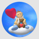 My Little Angel with Balloon & Teddy Round Stickers