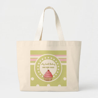 My Little Bakery - Green & Pink Canvas Bags