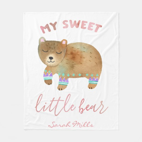 My Little Bear Fleece Blanket