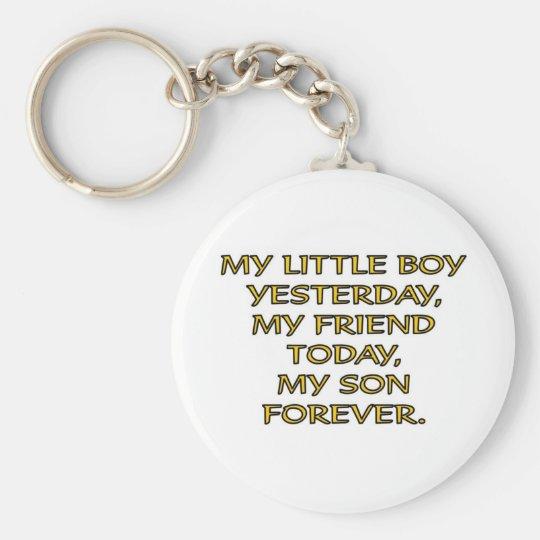 MY LITTLE BOY BASIC ROUND BUTTON KEY RING