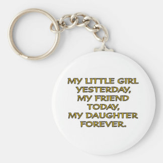 MY LITTLE GIRL BASIC ROUND BUTTON KEY RING