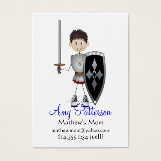 My Little Knight Player Mommy Cards