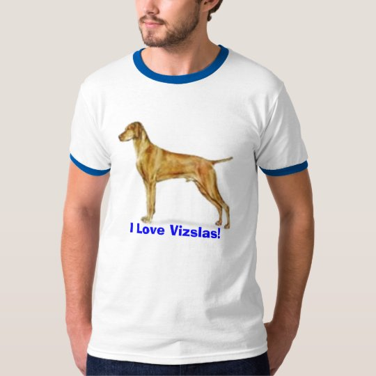 my little Lucas, I Love Vizslas! Dog T-Shirt