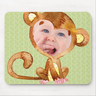 My Little Monkey Custom Photo Mouse Pad