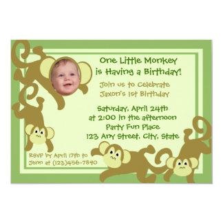 My Little Monkey 13 Cm X 18 Cm Invitation Card
