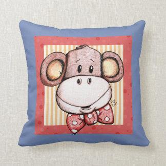 My Little Monkey Throw Pillow