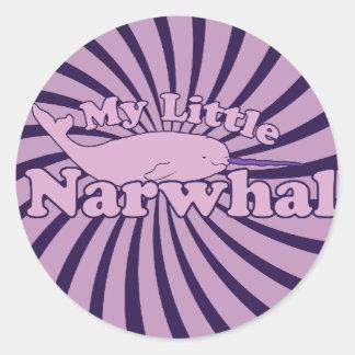 My Little Narwhal Parody Round Sticker