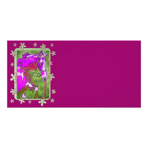 My Little Pony (Purple and Green) Photo Greeting Card