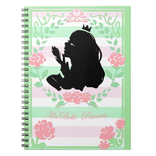 my little Princess notebook green/pink