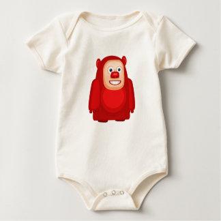 My Little Red Monster - Organic Baby bodysuit
