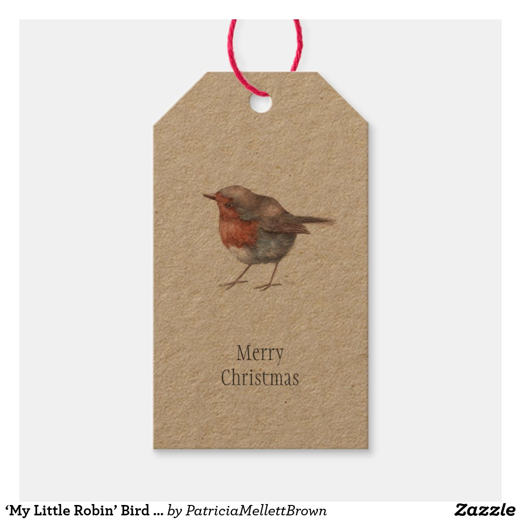 My Little Robin Bird Christmas Gift Tags