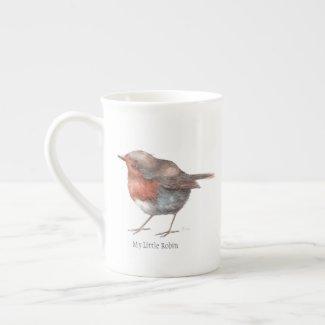 My Little Robin Bone China Tea Cup