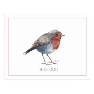 My Little Robin Postcard