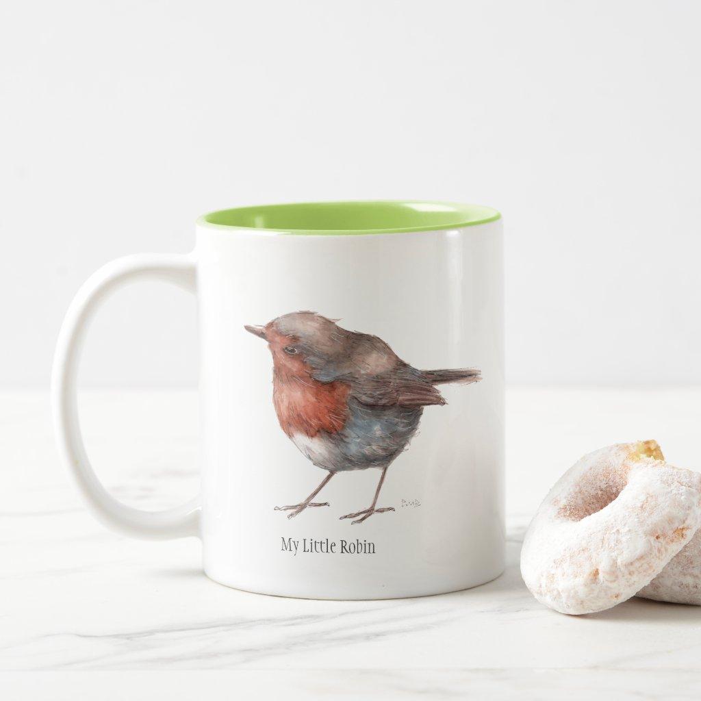 My Little Robin Two Toned Mug