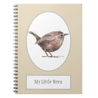 My Little Wren Bird Spiral Notebook