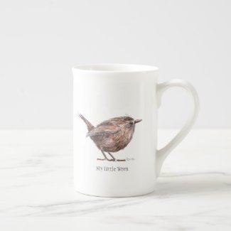 My Little Wren China Tea Cup