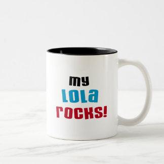 My Lola Rocks T-shirts and Gifts Two-Tone Mug