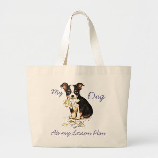 My Long Coat Chihuahua Ate My Lesson Plan Canvas Bags