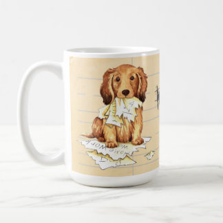 My Longhaired Dachshund Ate my Homework Coffee Mug