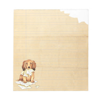 My Longhaired Dachshund Ate my Homework Notepad