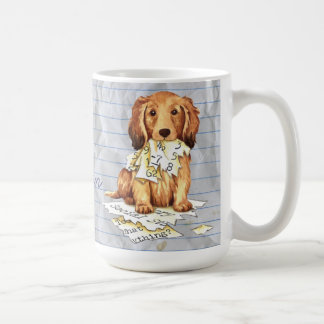 My Longhaired Dachshund Ate my Lesson Plan Coffee Mug