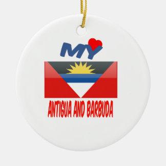 My Love Antigua and Barbuda Christmas Tree Ornaments