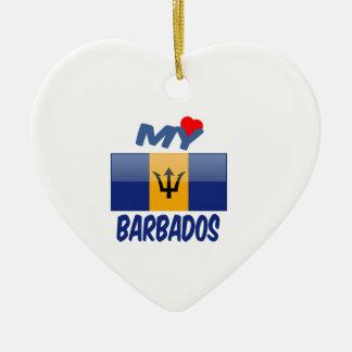 My Love Barbados Ceramic Heart Decoration