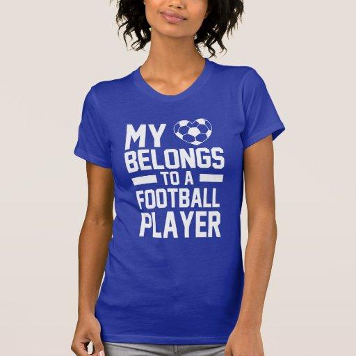 my love belongs to a football player tee shirt