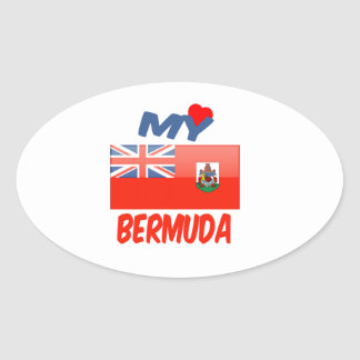 My Love Bermuda Oval Sticker