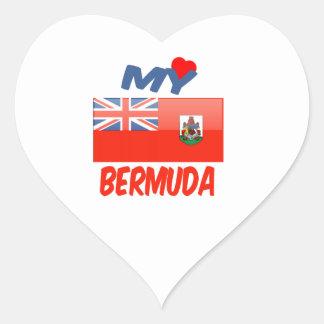 My Love Bermuda Heart Sticker