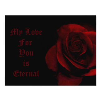 My Love For You Is Eternal 11 Cm X 14 Cm Invitation Card