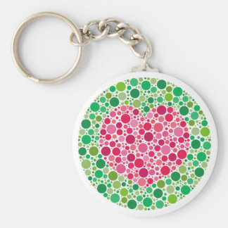 My Love is Colour Blind Keychain with border