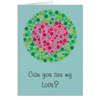 My Love is Colour Blind Valentine s Day Card