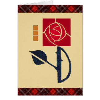 My Love is like a Red, Red, Rose Greeting Card