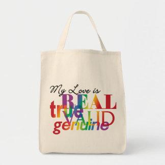 My Love Is Real True Valid Genuine Tote Bag