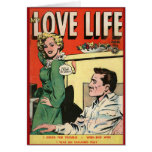 """""""My Love Life"""" Vintage Comic Cover Card"""