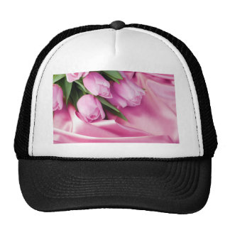 My Love, Pink Tulips, Pink Satin Hats