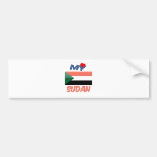 My Love Sudan. Bumper Sticker