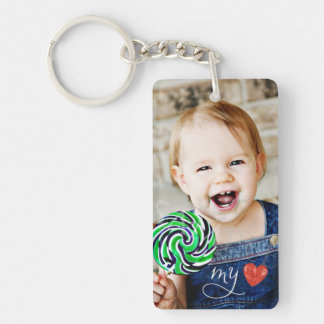 My Love Sweet Photo Double Sided Keychain