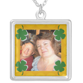 My Lucky Charm Square Pendant Necklace